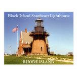 Faro suroriental del Block Island, postal de RI