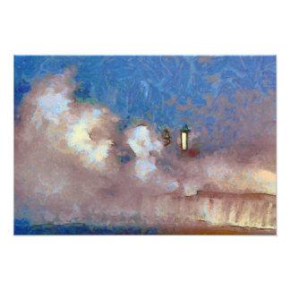 Faro tempestuoso de los mares impresiones fotográficas