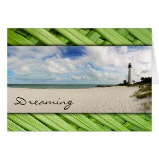 Faro tropical - tarjeta de felicitación