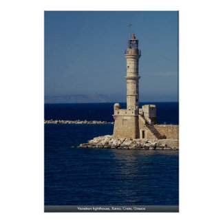 Faro veneciano Xania Creta Grecia Poster