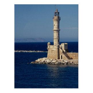 Faro veneciano Xania Creta Grecia Tarjeta Postal