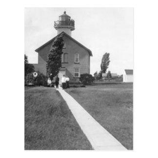 Faro verde de la isla postales