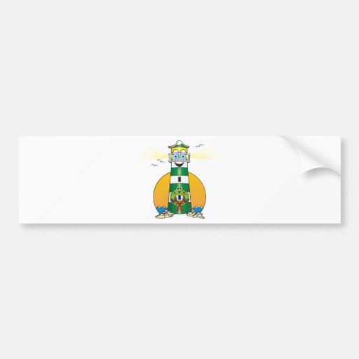 Faro verde del navidad del dibujo animado pegatina para auto