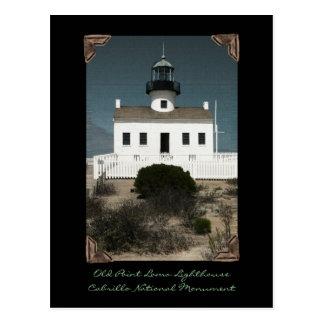 Faro viejo del Point Loma Tarjetas Postales