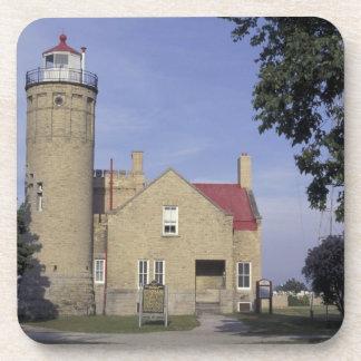 Faro viejo del punto de los E.E.U.U., Michigan Mac Posavasos