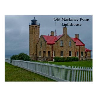 Faro viejo del punto de Mackinac Postales