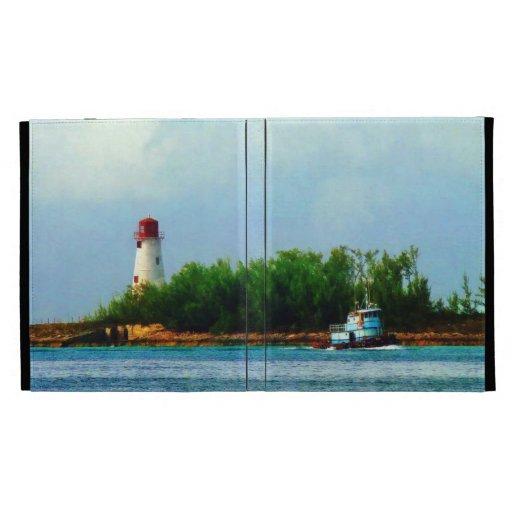 Faro y barco Nassau Bahamas