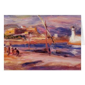 Faro y fuerte Carre Antibes de Pedro Renoir- Tarjeta De Felicitación