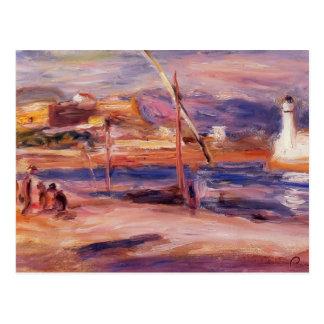 Faro y fuerte Carre Antibes de Pedro Renoir- Postales