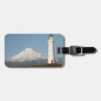 Faro y Mt Taranaki/Mt de Egmont del cabo Etiqueta Para Maleta