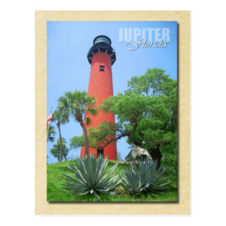 Faro y museo, la Florida de la entrada de Júpiter Tarjetas Postales