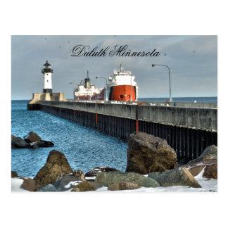 Faro y nave, Duluth Minnesota Postal