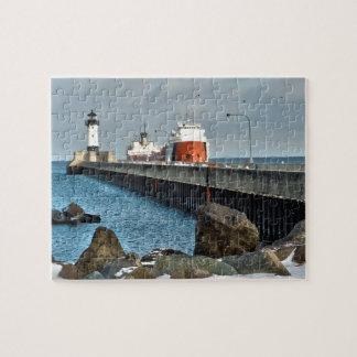 Faro y nave puzzle