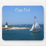 Faro y puerto Mousepad de Nantucket Cape Cod Tapete De Ratón