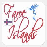 Faroe Island Calcomanías Cuadradass Personalizadas