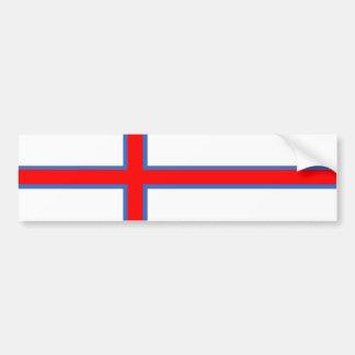 faroe island country flag long symbol bumper sticker