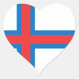 Faroe Island Calcomanías Corazones Personalizadas