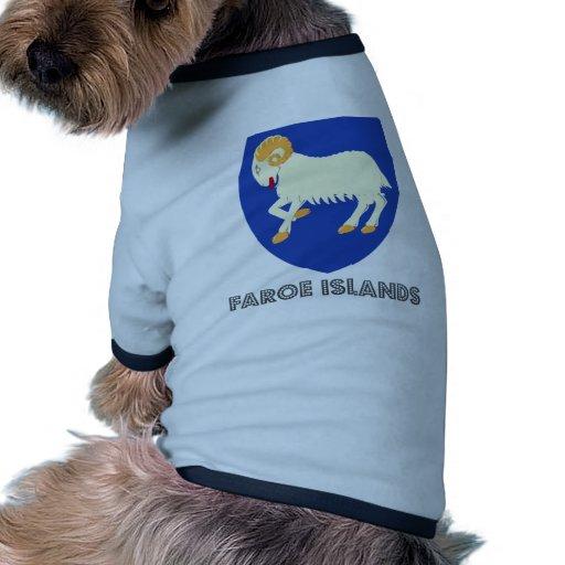 Faroe Islands Coat of Arms Dog Tee Shirt