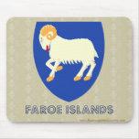 Faroe Islands Coat of Arms Mouse Pad