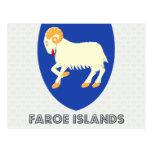 Faroe Islands Coat of Arms Postcard