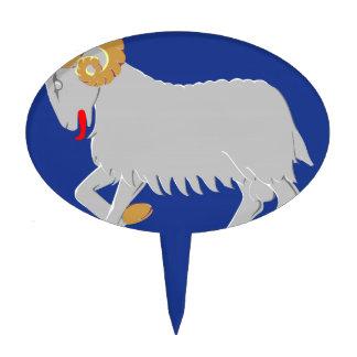 Faroe Islands (Denmark) Coat of Arms Cake Pick