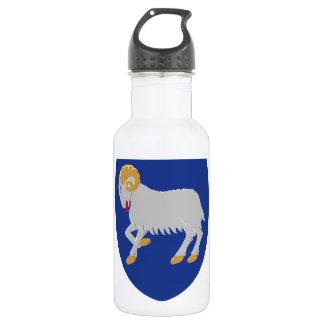 Faroe Islands (Denmark) Coat of Arms Water Bottle