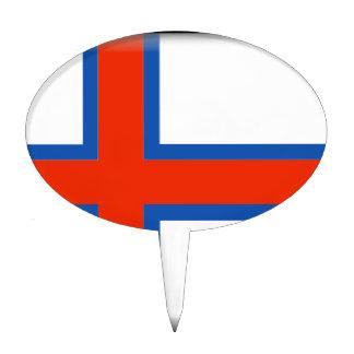 Faroe Islands (Denmark) Flag Cake Toppers