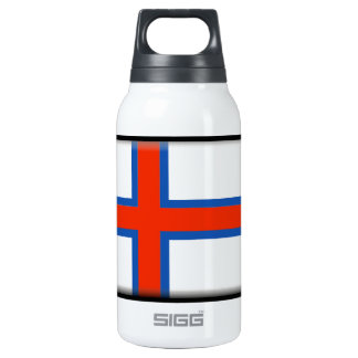 Faroe Islands (Denmark) Flag Insulated Water Bottle