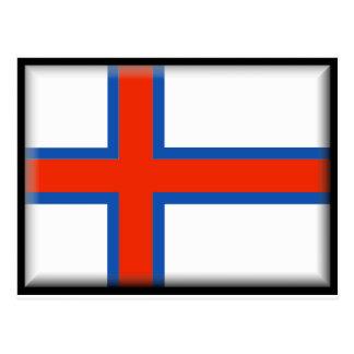 Faroe Islands (Denmark) Flag Postcard