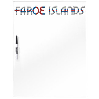 Faroe Islands Flag Colors Typography Dry-Erase Board