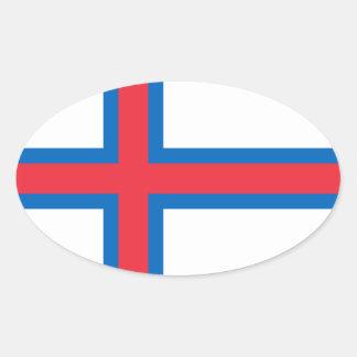 Faroe Islands Flag. Denmark/Danish/Dane Oval Sticker