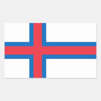 Faroe Islands Flag. Denmark/Danish/Dane Rectangular Stickers