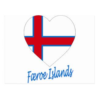 Faroe Islands Flag Heart Postcard