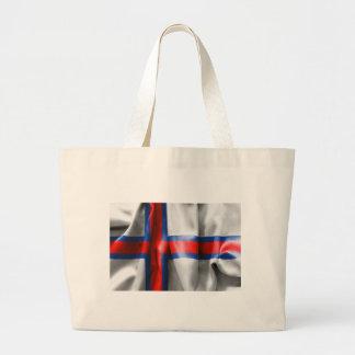 Faroe Islands Flag Large Tote Bag