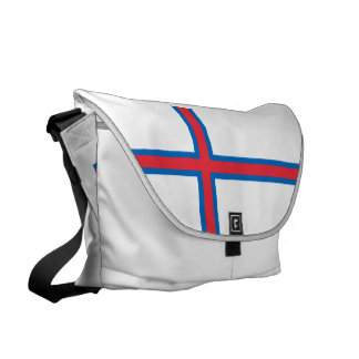 Faroe Islands Flag Messenger Bag