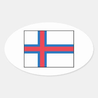 Faroe Islands Flag Oval Sticker