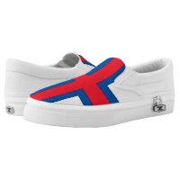 Faroe Islands Flag - Printed Shoes