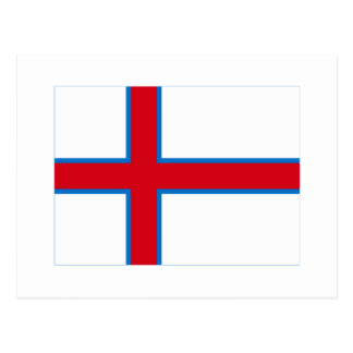 Faroe Islands Flag Postcard