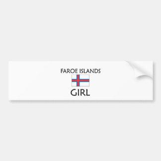 FAROE ISLANDS GIRL BUMPER STICKERS