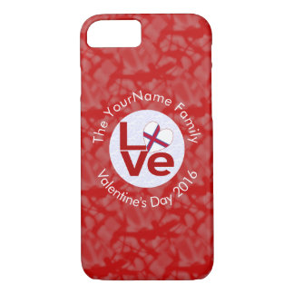 Faroe Islands or Faroese LOVE White on Red iPhone 8/7 Case