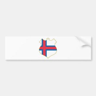 Faroe-islands-shield.png Pegatina De Parachoque