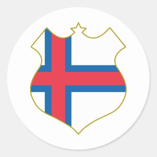 Faroe-islands-shield.png Pegatina Redonda