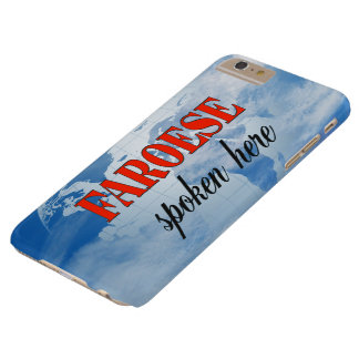 Faroese spoken here cloudy earth barely there iPhone 6 plus case