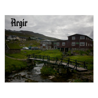 Faroese Village of Argir: Postcard