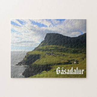 Faroese Village of Gásadalur: Puzzle