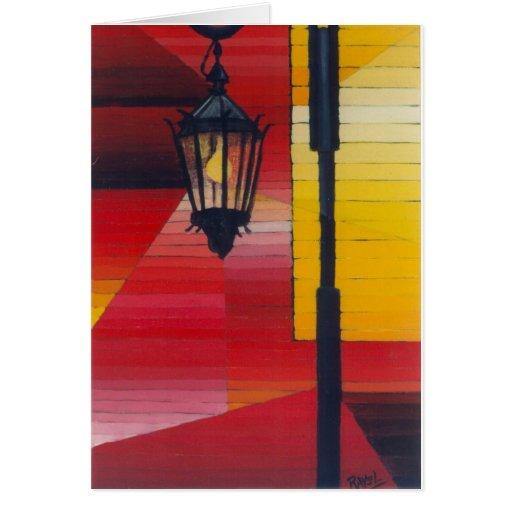 Farol (lámpara de Boca del La) Tarjeta De Felicitación