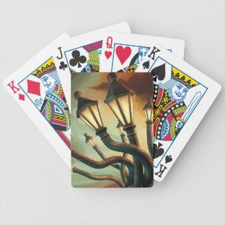 Farolas borrachas barajas de cartas