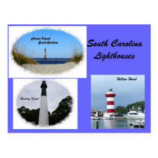 Faros de Carolina del Sur Tarjeta Postal