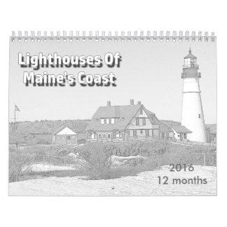 Faros de la costa de Maine Calendarios De Pared
