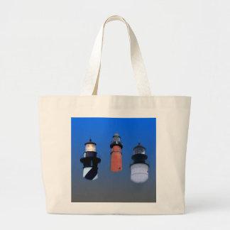 Faros de la costa este bolsa tela grande